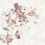 Sumi-e Digital Print Panel Watercolour Flower Pink 30620 By BN Wallcoverings For Galerie